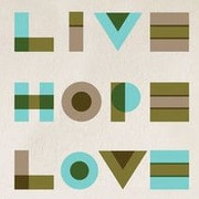 GreenBox Art Live, Hope, Love Wall Decal; Turquoise
