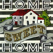 GreenBox Art 'Home Sweet Home' by Shelly Kennedy Graphic Art on Wrapped Canvas