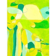 GreenBox Art 'Green Stag Mites' by Jennifer Mercede Painting Print on Wrapped Canvas