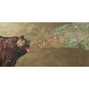 GreenBox Art Grizzly Growl by Eli Halpin Painting Print on Wrapped Canvas