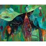 GreenBox Art Light Trio by Flora Bowley Painting Print on Wrapped Canvas