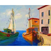 GreenBox Art 'End of Day' by Robert Kennedy Painting Print on Wrapped Canvas