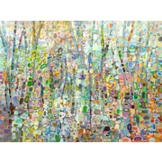 GreenBox Art Abstract Forest by Angelo Franco Painting Print on Wrapped Canvas