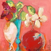 GreenBox Art 'Petite Floral Study' by Kristina Bass Bailey Painting Print on Wrapped Canvas in Rose