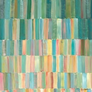 GreenBox Art 'Popsicle Sticks' by Jack Dickerson Painting Print on Canvas in Green and Beige