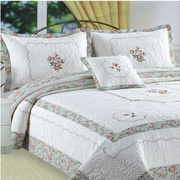 J&J Bedding Kona Flower Embroidery Quilt Standard Sham