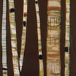 GreenBox Art Birch Trunks by Eli Halpin Painting Print on Wrapped Canvas in Chocolate