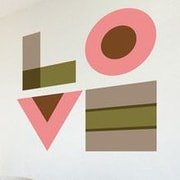 GreenBox Art Love for the Family Wall Decal; Pink