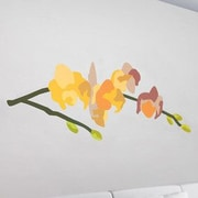 GreenBox Art Orchid Wall Decal; Yellow