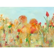 GreenBox Art 'Mums The Word' by Deborah Brenner Painting Print on Wrapped Canvas