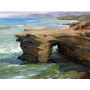 GreenBox Art 'Sunset Cliffs at Day' by Stanislav Prokopenko Painting Print on Wrapped Canvas
