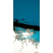 GreenBox Art 'Vertical Line Series' by Andy Anh Ha Painting Print on Wrapped Canvas in Blue