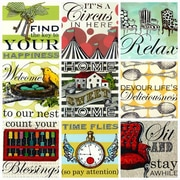 GreenBox Art 'Sweet Sayings - Home' by Shelly Kennedy Painting Print on Wrapped Canvas