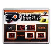 Team Sports America NHL Scoreboard Wall Clock with Thermometer; Philadelphia Flyers