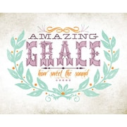 Wheatpaste Amazing Grace by Fancy That Design House and Co Framed Graphic Art on Wrapped Canvas
