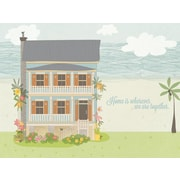GreenBox Art Wherever We Are Together Beach House by Rachel Mosley Painting Print on Wrapped Canvas