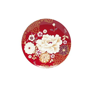 Maxwell & Williams Kimono Cake Plate, Red, 4/Pack