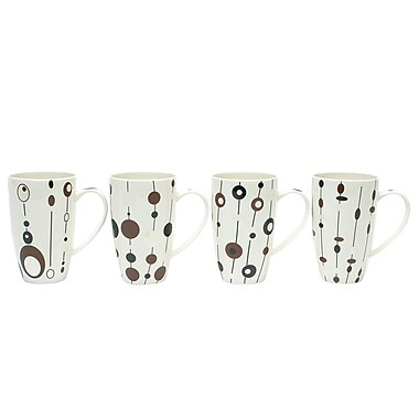 Maxwell & Williams String of Pearls Mugs, Set of 4