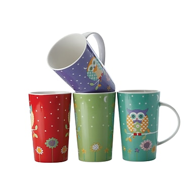 Maxwell & Williams Hoot Hoot Mugs, Set of 4