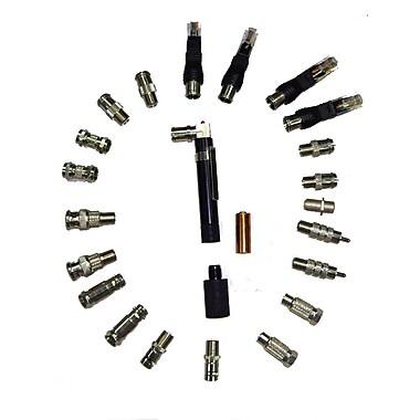 Digiwave – Testeur de câbles Perfectional avec différents adaptateurs, 6,7 x 5,1 x 2,4 po, argenté