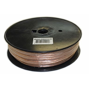 Electronic Master 50' 2 Wire Speaker Cable with 12awg, 2.6
