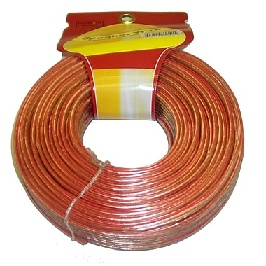 Electronic Master 100' 2 Wire Speaker Cable with 16awg, 2