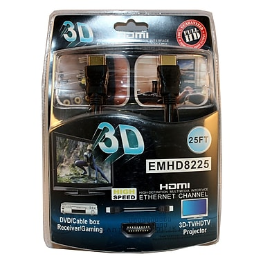 Electronic Master 25' Male to Male HDMI Cable (Blister Packaging), 2.8