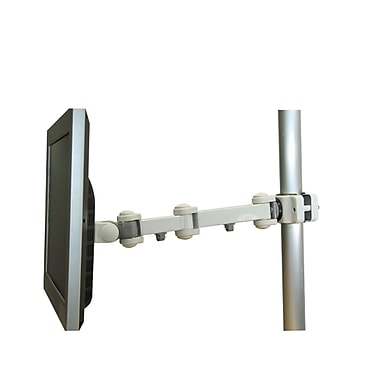 TygerClaw – Support à mouvement complet sur poteau pour point de vente, 4,7 x 19,3 x 4,7 po, gris
