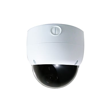 SeqCam - Caméra de sécurité à mini-dôme rapide SEQ5502, 10 x 11 x 8 (po), blanc