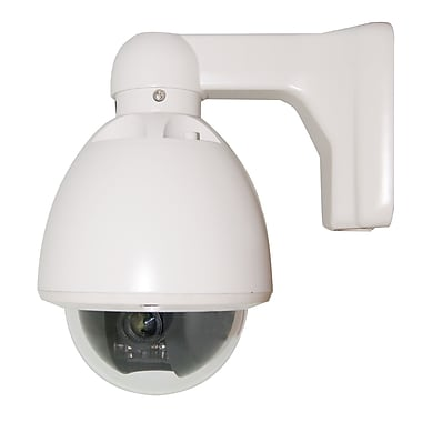 SeqCam - Caméra de sécurité à mini-dôme rapide SEQ7501, 10 x 11 x 8 (po), ivoire