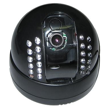 SeqCam – Caméra de sécurité dôme couleur IR, 5 po x 5 po x 5 po, noir
