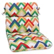 Pillow Perfect Rounded Corners Dining Chair Cushion; Resort Garden