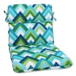 Pillow Perfect Rounded Corners Dining Chair Cushion; Resort Peacock