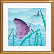Artfully Walls Butterfly by Isabelle Stolar Framed Graphic Art; Gold