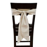 Brite Ideas Living Saxony Chair Tie w/ Tapered and Serged Edges (Set of 2)