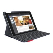 Logitech Type+ Keyboard And Folio Case - Wireless - 920-006913 - Dark Blue - For Apple iPad Air 2