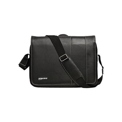 Mobile Edge Laptop Messenger, Black with White Trim Koskin (MEUTSMB5)