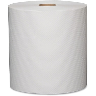 Metro Paper 1-Ply Jumbo-Size Paper Towels, White, 12 Rolls/Box