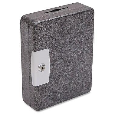 FireKing Drop Slot Hook Style Tag Key Cabinet with Key Lock Bolts, Black/Silver