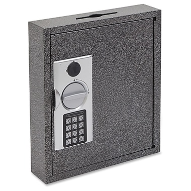 FireKing 30-Key E-lock Steel Key Cabinet with Key Lock Bolts, Black/Silver