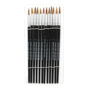 Charles Leonard Round Water Color Paint Brushes With Pointed Handle, Camel Hair Bristle, #7, 5/Pack