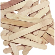 "Chenille Kraft Company® Jumbo Wood Craft Sticks, Natural, 6"" x 0.75"" x 0.0787"", 12/Pack"