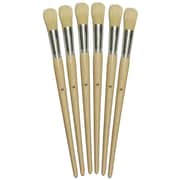 Chenille Kraft Company® Round Paint Brushes With Long Handle, Natural Bristle, #12, 5/Set