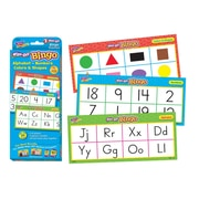 Trend Enterprises® Wipe-Off® Bingo Card, Alphabet, Numbers, Colors & Shapes, 3/Pack