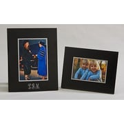 Creative Gifts International Noir Picture Frame; 4'' x 6''