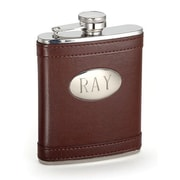 Creative Gifts International 6 Oz. Stainless Steel Flask with Oval Engraved Plate