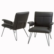 Home Loft Concepts Lewisvielle Arm Chair (Set of 2); Black / Black