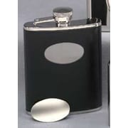 Creative Gifts International 6 Oz. Stainless Steel Flask with Engraving Plate