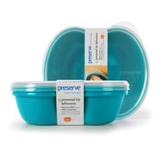 Preserve Food Storage Container (Set of 2); Aqua