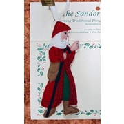 The Sandor Collection Christmas Memories Father Christmas w/ Walking Stick Tree Ornament
